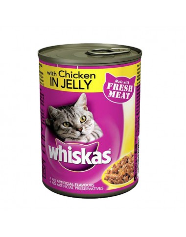 Whiskas Cat Food Chicken Jelly 390g