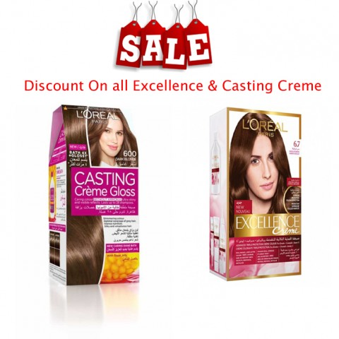 Sale On All L'Oreal Casting & Excellence Creme