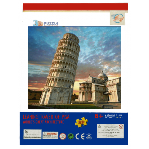 3D Puzzle Pisa Tower