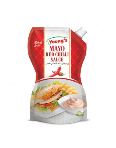 Young's Mayo Red Chilli - 500ml