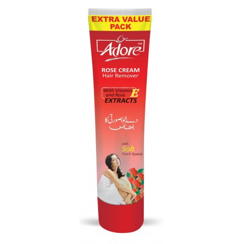 Adore Rose Hair Removing Cream Family Pack