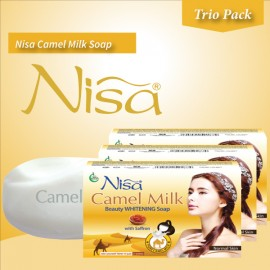 Nisa Camel Milk Beauty Whitening Soap Normal Skin 110 Gm (pack Of Three Soaps)