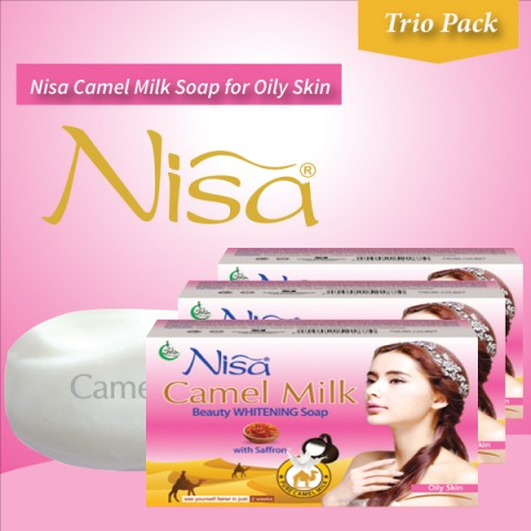 Nisa Camel Milk Beauty Whitening Soap Oily Skin 110 Gm (Pack Of Three Soaps)
