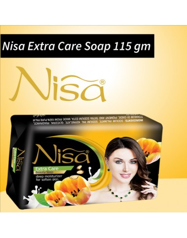 Nisa Extra Care Beauty Soap Black Medium 115 Gm