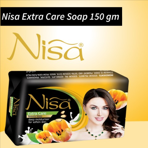 Nisa Extra Care Beauty Soap Black Large 150 Gm