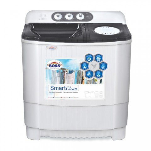 Boss Twin Tub Washing Machine KE 8500-BS- Grey